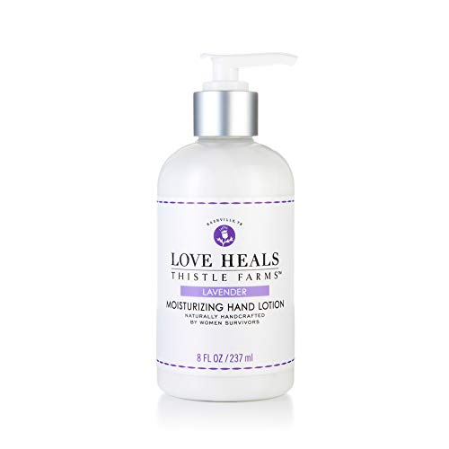 Thistle Farms | Moisturizing Hand Lotion made with Organic Aloe Leaf & Coconut Oil | Infused with Pure Essential Oils | Handcrafted by Women Survivors | 8 fl oz. (Lavender)
