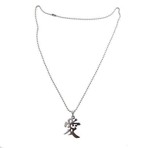 DADATU Halsketten für Herren Naruto Gaara Liebe Kardashian Hot Anime Serie Edelstahl Chinesischen Wort Anhänger Perlen Kette Klassische Schmuck Für Frauen Mich N