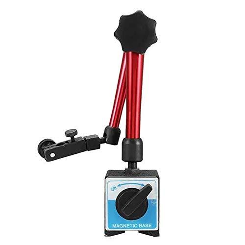 XTLXA Micrómetros de Precisión Titular de la Base de la Herramienta del Soporte Flexible Universal for la marcación de Prueba Indicador 350mm Altura Micrómetros (Color : Red, Size : One Size)