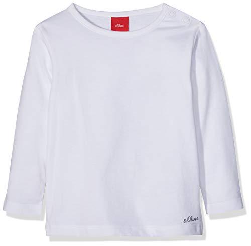 s.Oliver Unisex Baby 56.899.31.0740 T-Shirt, Weiß (White 0100), 62