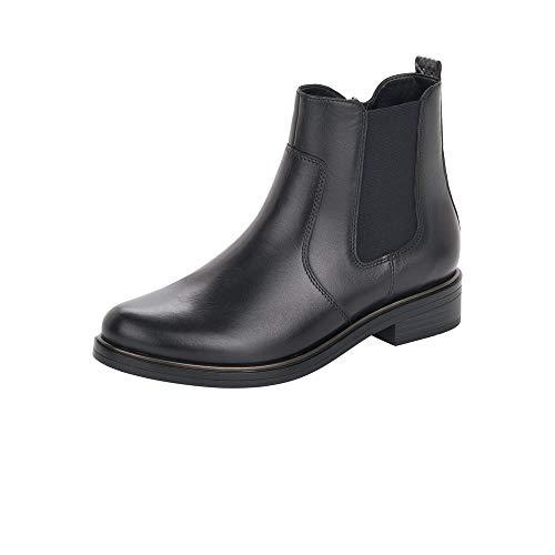 Remonte Damen D8376 Chelsea-Stiefel, schwarz/Rauch / 01, 36 EU