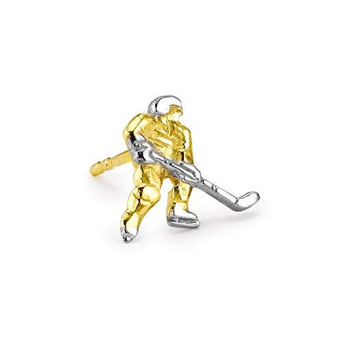 Ohrstecker 1 Stk 375/9 K Gelbgold Eishockey