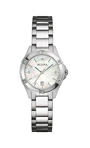 Bulova Diamond 96W205 - Reloj de Pulsera de diseño para Mujer - Acero Inoxidable