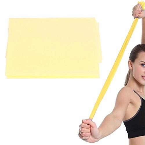 Kuuleyn Bandas elásticas para flexibilidad para Mujeres, TPE Fitness Bandas elásticas Cinturón de Resistencia Accesorio de Ejercicio de Yoga para Entrenamiento Deportivo(Amarillo)