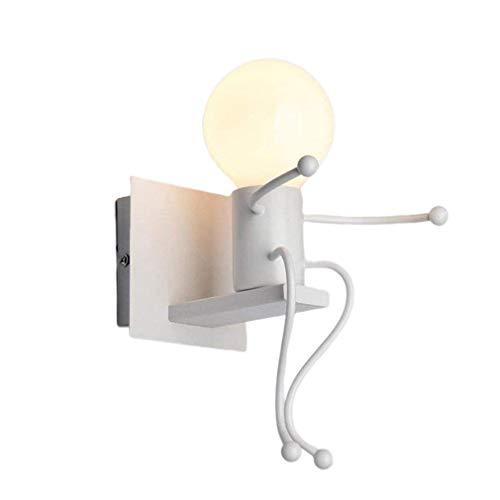 Lámpara de Pared de Villano de Dibujos Animados Swing Little Iron Man Blanco sin Fuente de luz
