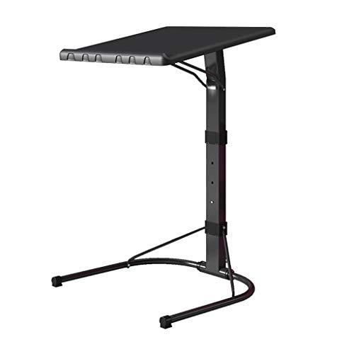 Gooyang Laptoptafel, bed met een lui tafel, inklapbare lift eenvoudig, mobiel bureau. Eenvoudige salontafel studeren nachtkastje, zwart (maat: 58-70 cm)