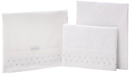 Petit Lazzari Lulu - Juego de 3 sábanas para capazo, cuco o moisés, 35x75 cm, color gris