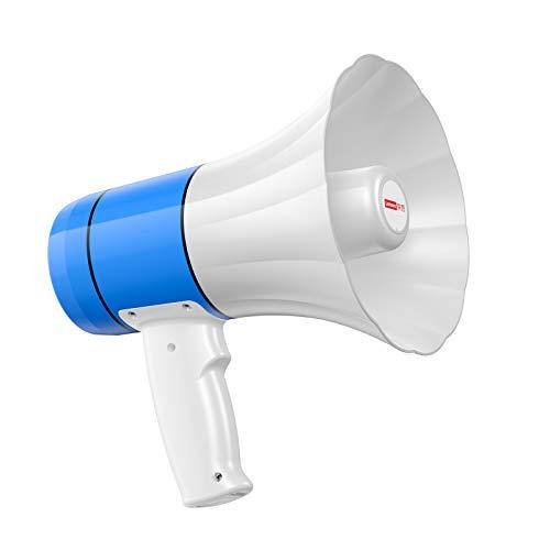 ASDZ Megáfono Profesional,Megáfono portátil bocina de Sirena,Megáfono con Altavoz Potente,función de grabación...