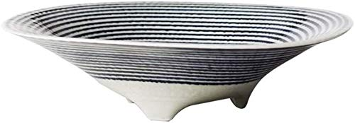 Stylisme aspect exquis de la mode maison Soup Bowl Table alimentaire Bowl Restaurant Ramen Bowl céréales de petit déjeuner Bowl Cuisine Vaisselle Bowl (Couleur: Bleu, Taille: 23.2CM)