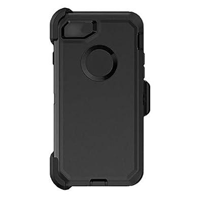 Defender Series Case for iPhone 8 Defender Case Triple Layer Defense for iPhone 7 Case Defender Belt Clip Holster Defender Black for iPhone 7 & iPhone 8 Case (Not Plus)