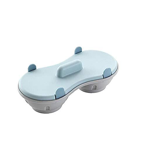 lujiaoshout Kreative Gedämpfter Ei Box Mikrowelle Ei-Behälter Doppel Gedämpfter Ofen Mikrowelle Küche Mold Egg Maker Pochiertes Ei-Dampfer-Küche Gadget 1Set Blau