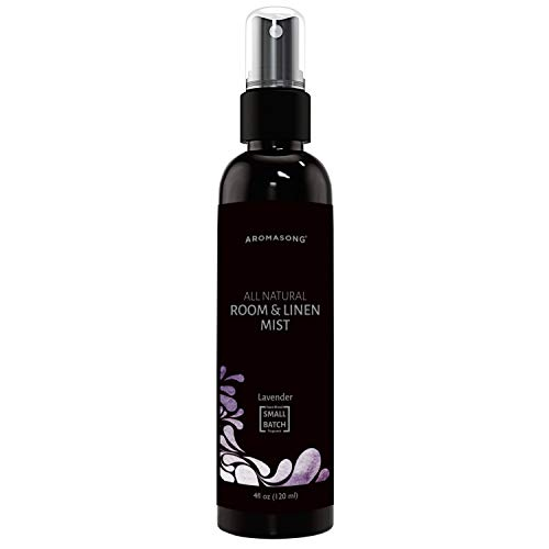 Aromasong All-Natural Lavender Room & Linen Spray - Sheets, Pillow, Fabric, Bed, Air Freshener & Deodorizer - Calming Fragrance for Sleeping, Relaxing, Stress Relief - Refreshing Scent, Removes Smell