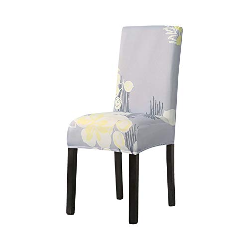 sexy-drunk 1/2/4/6Pcs Printed Dining Room Chair Cover Washable Elastic Sretch Furniture Seat Slipcovers for Wedding Party Banquet Hotel-A4-1Pc
