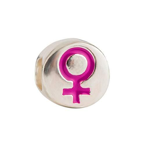 Eguzkilore Charm Abalorio Símbolo de la Mujer con Esmalte de la colección #8M 8 Morea