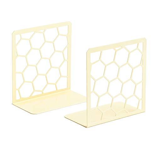 GEOMOD Decorative Geometric Honeycomb Metal Bookends