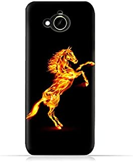 HTC Desire 10 Compact TPU Silicone Protective Case with Horse On Flame Design