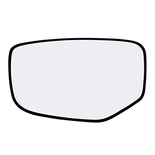 Left Hand Driver Side Mirror Assembly Plastic Backing Plate Heated Defrost Glass Compatible With 2008 2009 2010 2011 2012 Honda Accord 7-3/4 Inch Diagonal Sold By Rugged TUFF