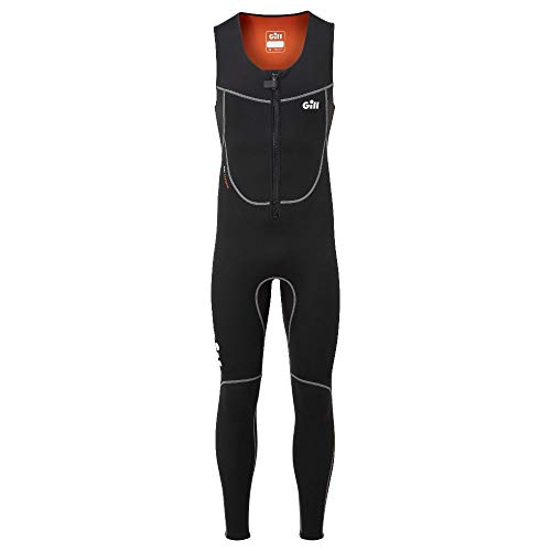 Gill Mens Dynamic 3mm Long John Wetsuit - zwart - Thermische warme warmtelagen Easy Stretch - 3mm neopreen