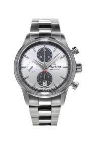 Alpina Alpina Alpiner Chronograph Automatisch Silber Zifferblatt Stahl Mens Watch AL-750SG4E6B