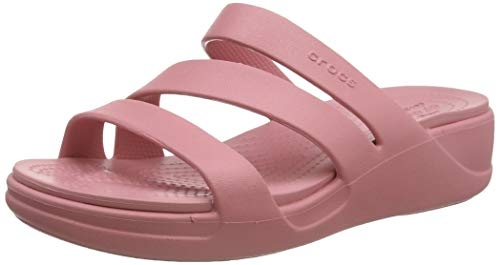 Crocs Damen Monterey Wedge Women Sandalen, Pink (Blossom 682), 42/43 EU
