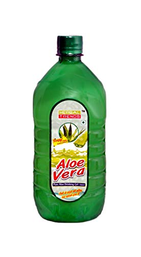 Herbal Trends Aloe Vera Drinking gel( Juice) 1 Ltr.-with Rich Pulp-Totally Fresh (made within 30 days guaranteed)