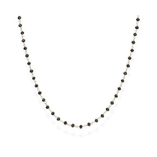 Amen Collana 45 cm con cristalli neri CLRN45