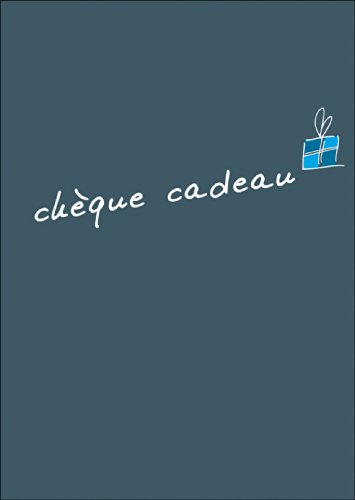 Geef een Frans cadeaubon (blanco): chèque cadeau • ook voor het rechtstreeks verzenden met uw persoonlijke tekst als inlegger. • Leuke wenskaart met envelop in premium kwaliteit