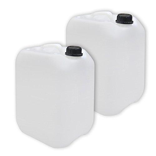 2er Set: 10 Liter Kanister naturfarben (DIN 45)