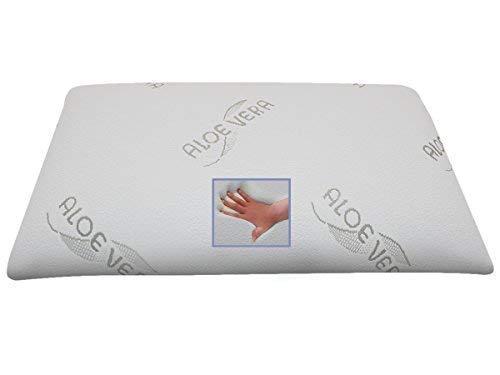 Orthopedisch BIO gel/gelschuim hoofdkussen/nekkussen/neksteunkussen 80 x 40 x 13 cm kussen met 2 zijden zacht + middel