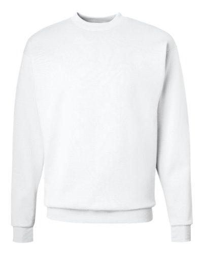 Hanes P160 ComfortBlend EcoSmart Crew Sweatshirt, Wei?, Gr??e - XL (Einheit pro Packung 1)