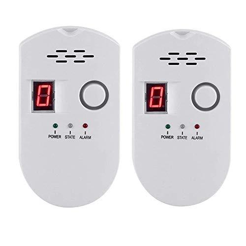 Natural Gas Detector, Gas Leak Detector, Household Propane Leak Detector, Propane Leak Detector, Natural Gas Leak Detector (2, White)