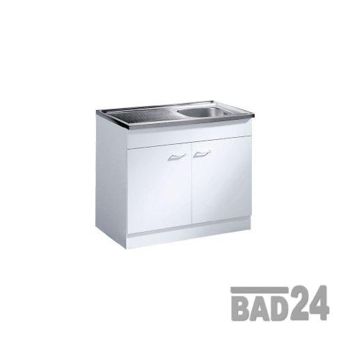 Küche-Spülenschrank/Mehrzweckschrank 80x50 Start Melamin weiß/weiß