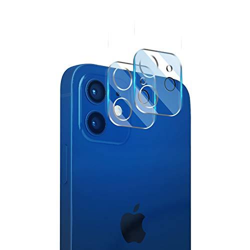 【2枚入り】iPhone 12 用 カメラフィルム レンズ保護ガラスフィルム【日本製素材旭硝子製】·最高硬度9H·高い光透過率·3D Touch対応·指紋防止·気泡防止·飛散防止 iPhone 12 用 カメラ保護フィルム