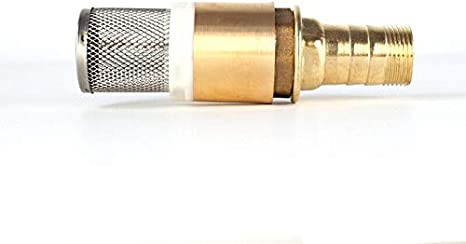 POWERTOOL Brass Check Valve 1 Inch Spring Check Valve Non Return Pump Inlet Filter Foot Valve with 1 22mm Hosetail Pack of 1