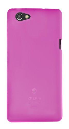 COMIROTPUSKFU Ideus-Cover in gel per Sony ERCISSON Xperia Miro, colore: fucsia/grigio