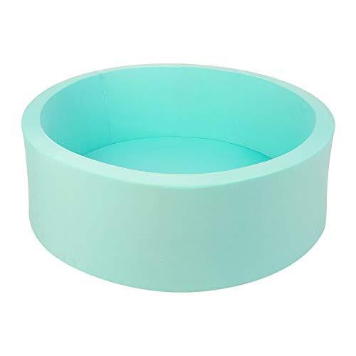 Trendbox Memory Foam Sponge Indoor Round Ball Pit for Toddler Children - Light Blue
