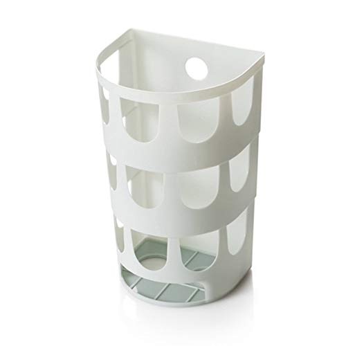 BianchiPatricia Wall-Mounted Plastic Garbage Bag Dispenser Storage Box Kitchen Organizer