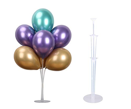 LANGXUN Clear Balloon Stand Kit | Mesa Soporte de Escritorio Globo Decoración para Fiesta de cumpleaños Boda Fiesta Evento (2 Pack)