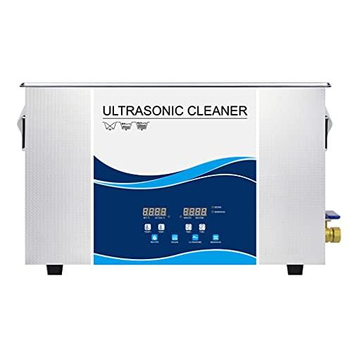Limpiador Ultrasónico Industrial 30L, Temporización Digital + Calentamiento + Desgasificación + Máquina De Limpieza por Vibración De Onda Variable, Máquina De Limpieza De Piezas Metálicas De Acero I