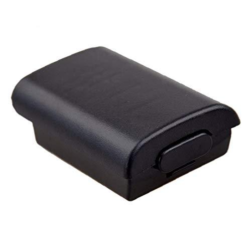 MICHAELA BLACK Spiel-Batterie-Kasten-AA-Batterie-rückseitige Abdeckung Passend für Xbox 360 Wireless Controller Batterie-Abdeckung mit Aufklebern Gamepad Zubehör Schwarz Videospielen