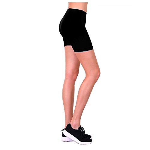 2 Biker Shorts Women Leggings Cycling Stretch Hot Yoga Exercise One Size Black