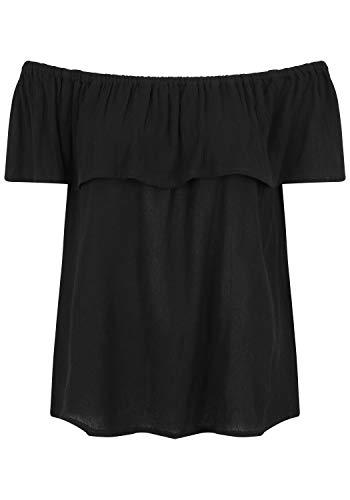 ICHI Damen Marrakech SS Bluse, Schwarz (Black 10011), 36 (Herstellergröße: S)