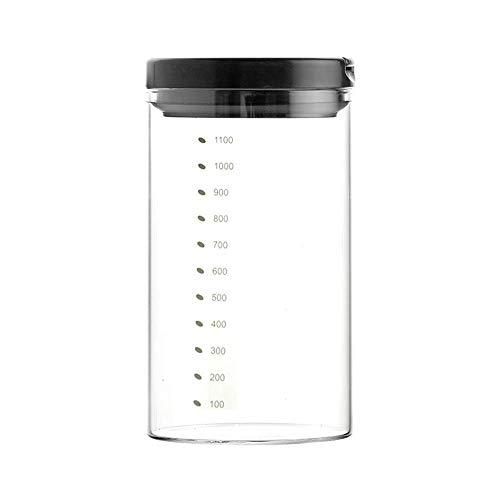 L.TSA Glasversiegelte Dosen, bleifreie Lebensmittelbehälter aus Glas, hochtransparent und leicht zu reinigen