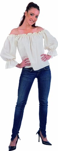 Mascarada NC030 - Middeleeuwse / piraten-blouse Medium wit