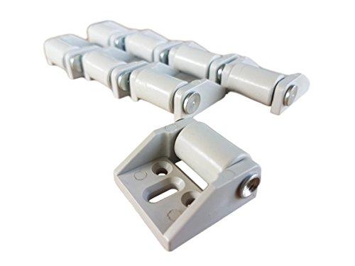 (8 Stück) nur 16 mm Gummiräder Kunststoffrollen mit Platte Möbel Geräte & Ausrüstung, kleine Mini-Rollen, Set