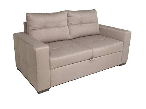 Alfa Sofa Divano Due posti con Estraibile e sedute morbide Budapest, 160x83x88cm (LxPxA) (Tessuto 02 - Colore 4)