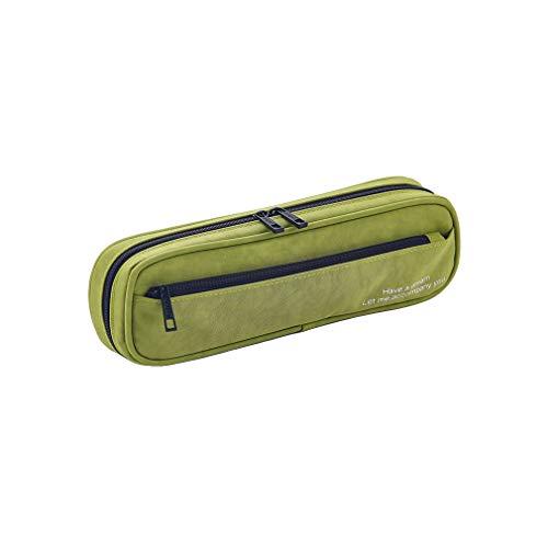 AidShunn Multifuncional Estuche de lápices de gran capacidad Bolsa de lona Premium Bolsa de lápiz Organizador de papelería para niña-Verde