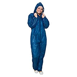 10 x disposable jumpsuit blue size. XXXL   Protective suit for light painting work, painting work, cleaning work Painter suit protective clothing paint suit disposable suit overall with hood