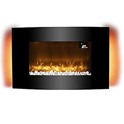Warmlite Glasgow Curved Glass Wall Mounted Fireplace