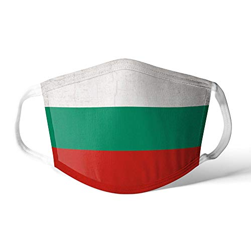 M&schutz Maske Stoffmaske Mittel Europa Flagge Bulgarien/Bulgarisch Wiederverwendbar Waschbar Weiches Baumwollgefühl Polyester Fabrik